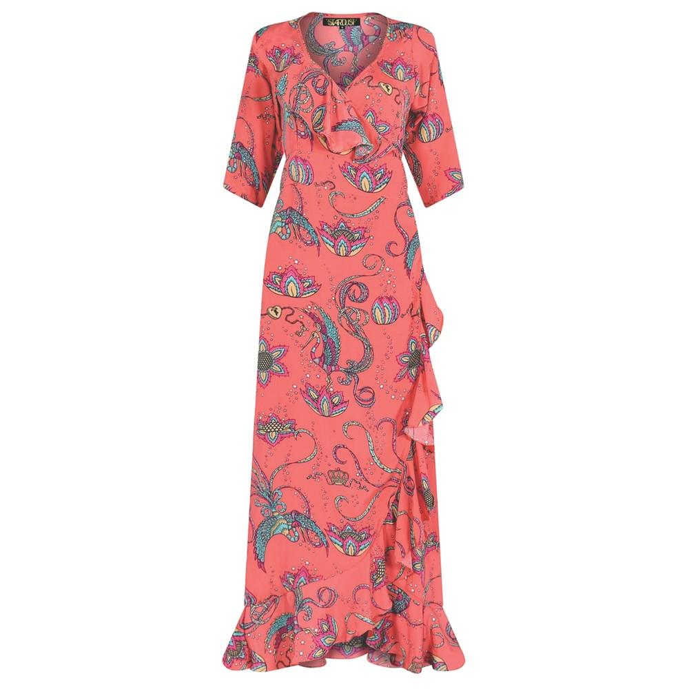 Flamenco Maxi Dress - Coral