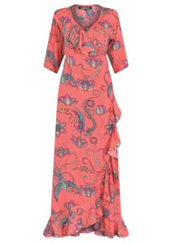 STARDUST Flamenco Maxi Dress - Coral