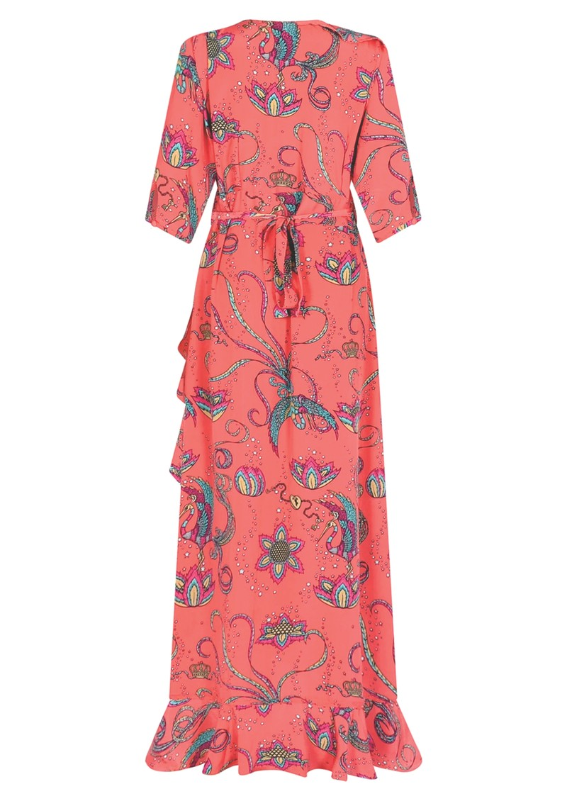 STARDUST Flamenco Maxi Dress - Coral main image