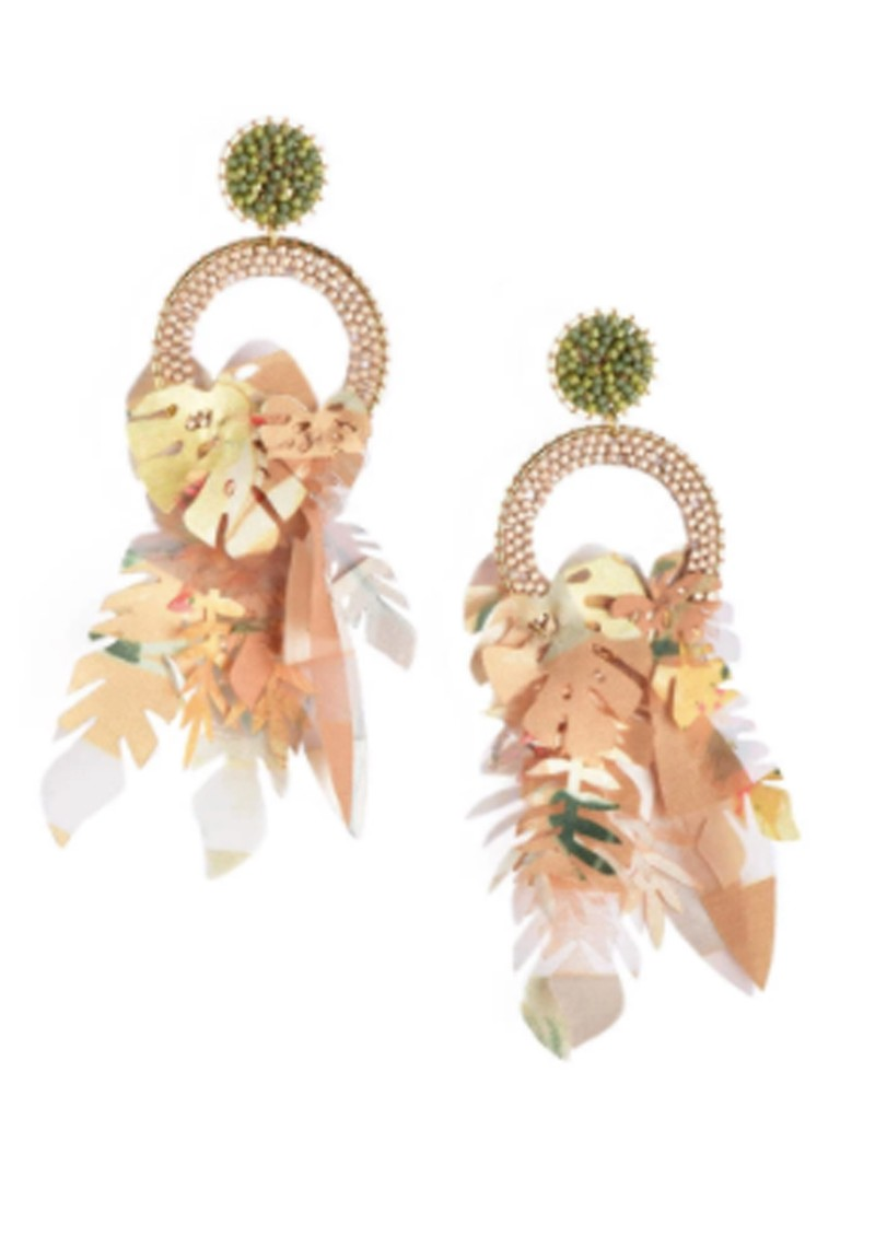 Amazonas Earrings - Olive Pearl & White main image