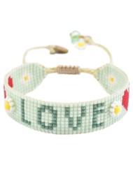 MISHKY Love Beaded Bracelet - Mint Green
