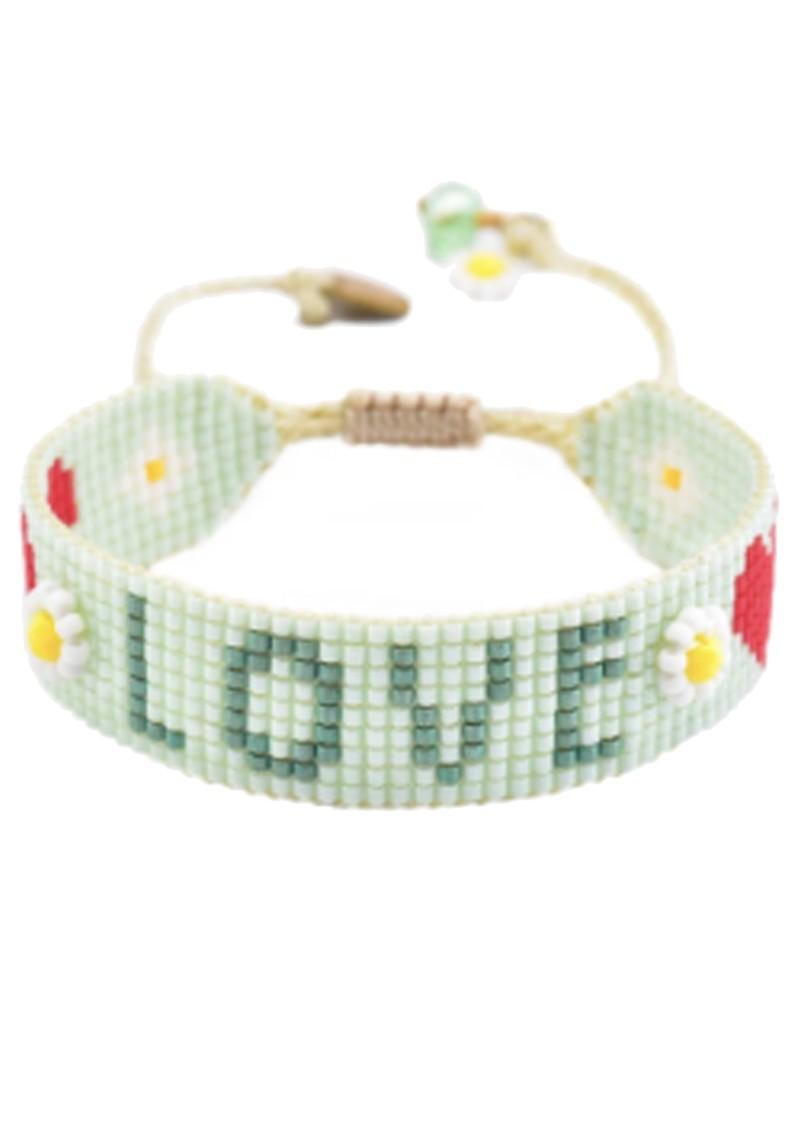 MISHKY Love Beaded Bracelet - Mint Green main image