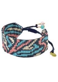 MISHKY Zeb Beaded Bracelet - Turquoise & Pink