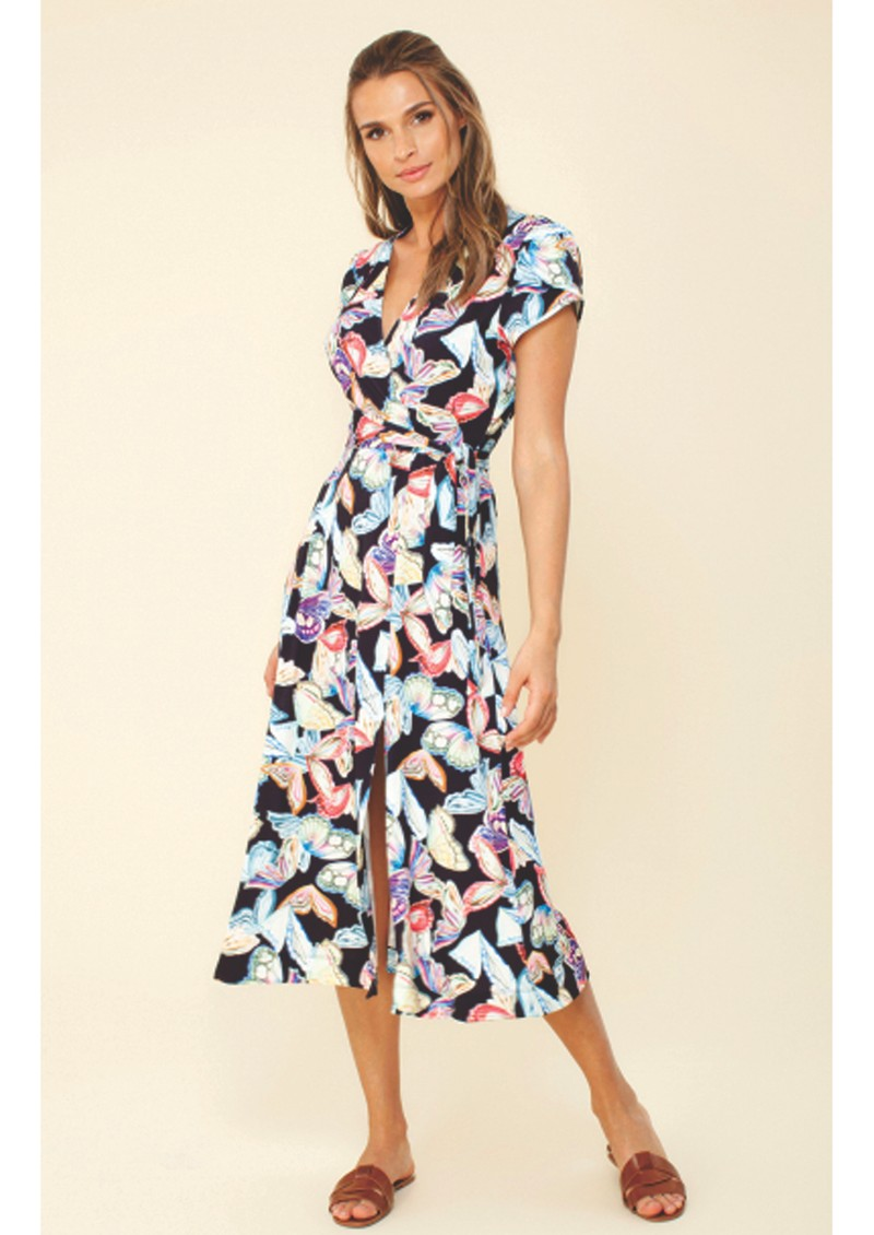 Hale Bob Sasha Wrap Dress - Black main image