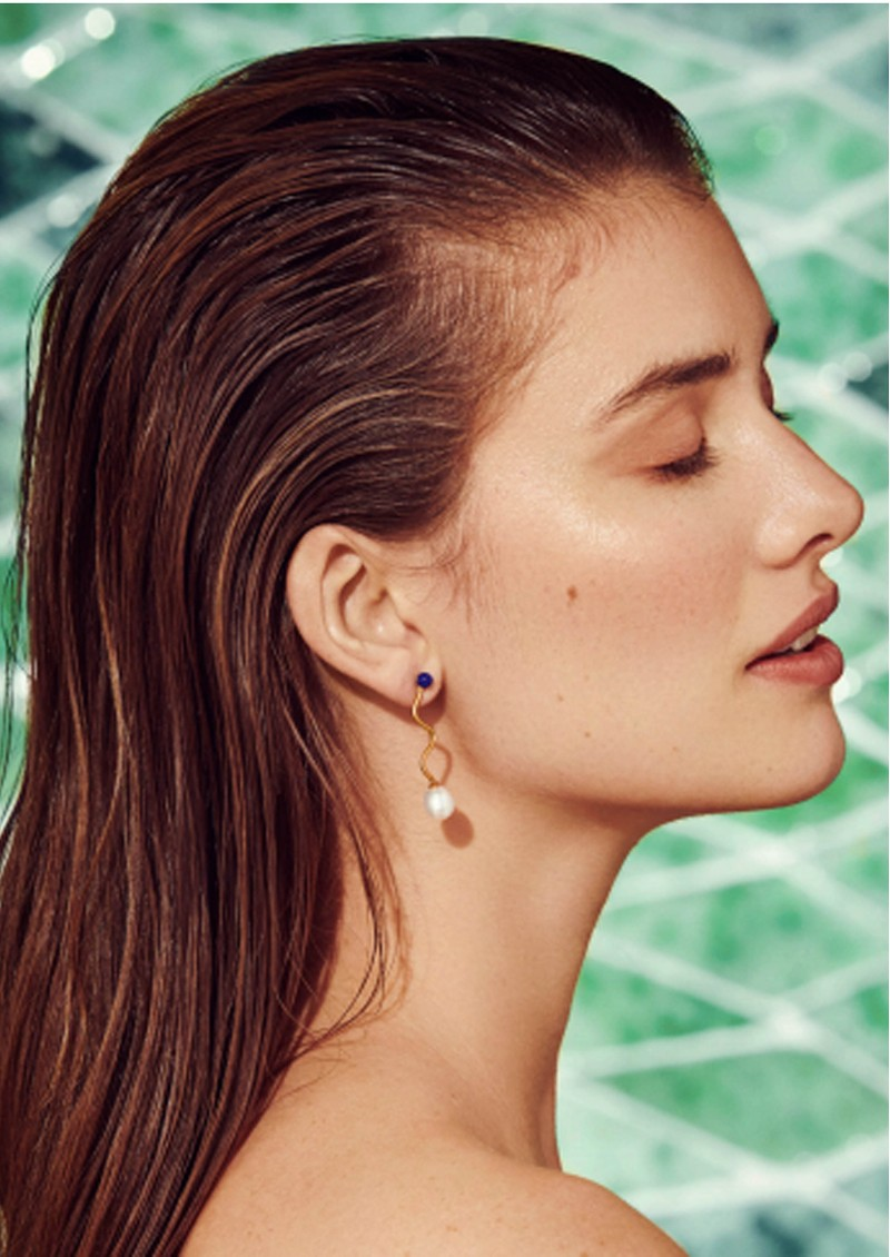PERNILLE CORYDON Lapis Lagoon Earrings - Gold main image