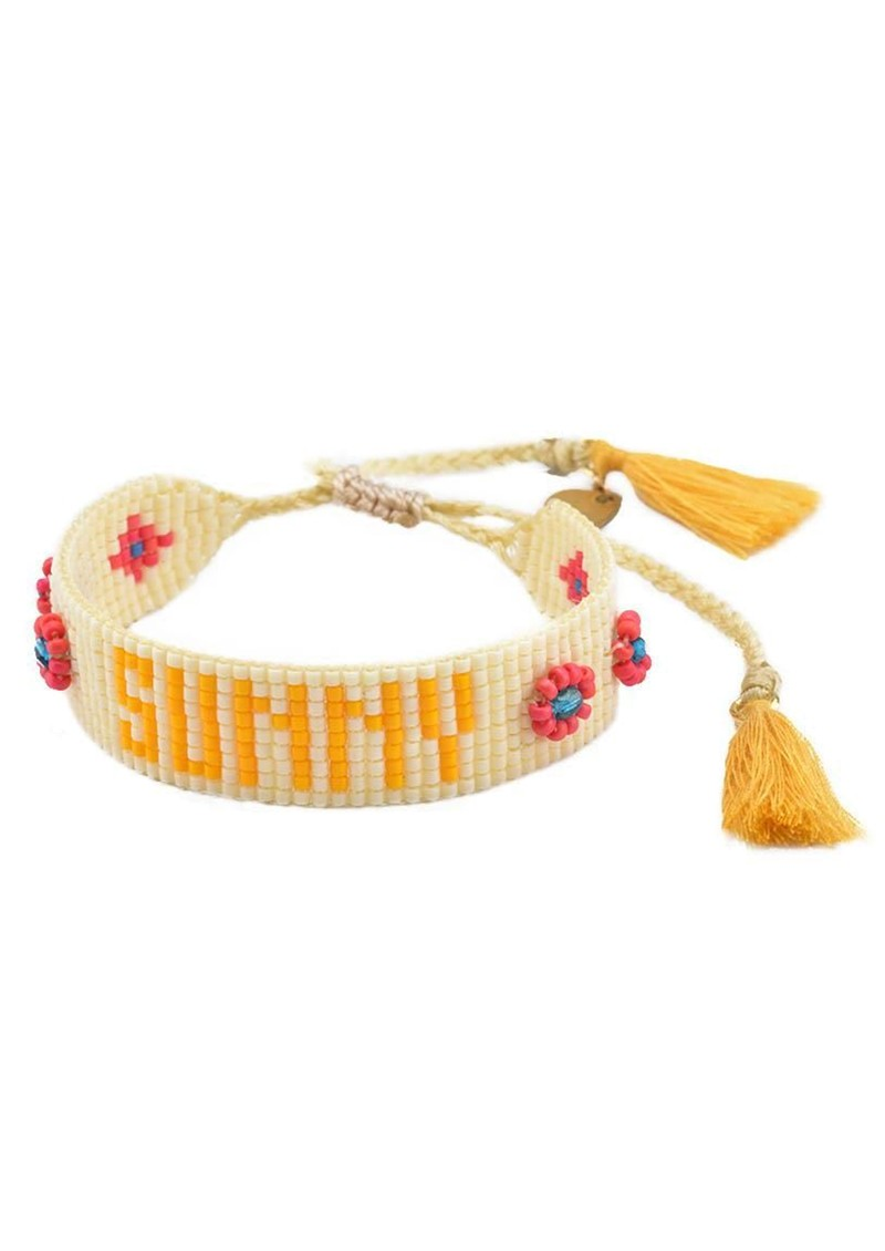 MISHKY Sunny Beaded Bracelet - Neutrals main image