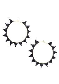 MISHKY Shooting Star Hoop Earrings - Black