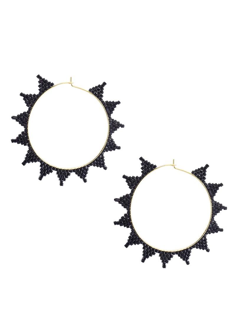 MISHKY Shooting Star Hoop Earrings - Black main image
