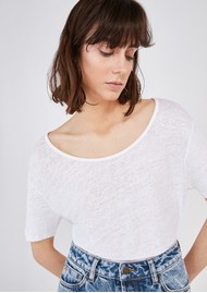 American Vintage Lolosister Linen T-Shirt - White