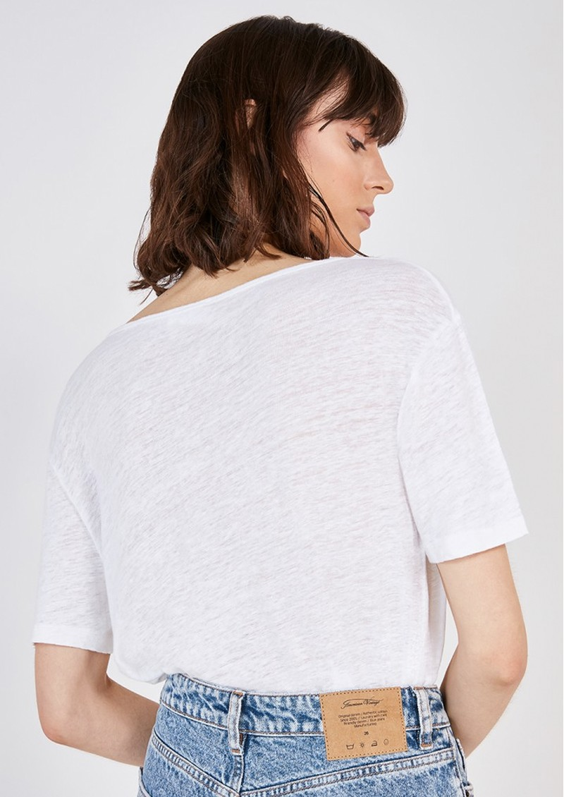 American Vintage Lolosister Linen T-Shirt - White main image