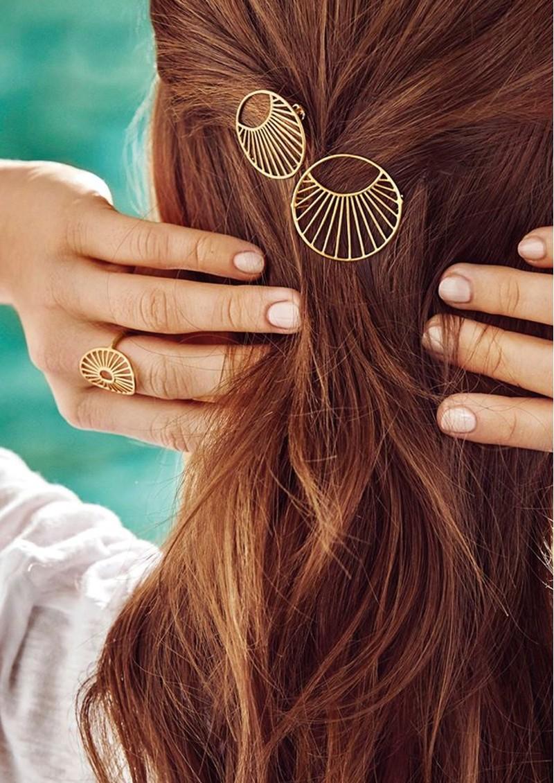 PERNILLE CORYDON Large Daylight Hair Clip - Gold main image