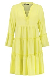 DEVOTION Ella Short Cotton Dress - Lime