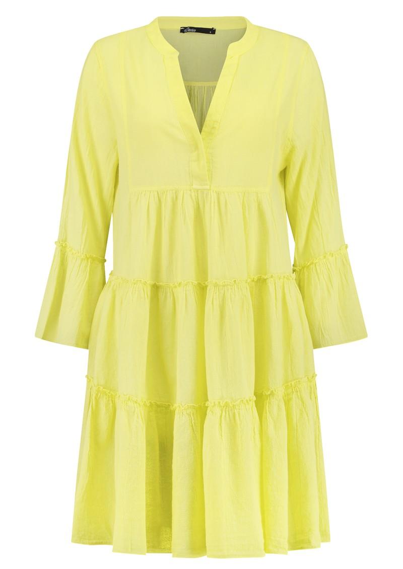 DEVOTION Ella Short Cotton Dress - Lime main image