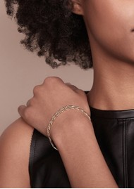 RACHEL JACKSON Statement Chevron Chain Bracelet - Gold