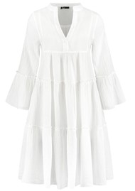 DEVOTION Ella Short Cotton Dress - White
