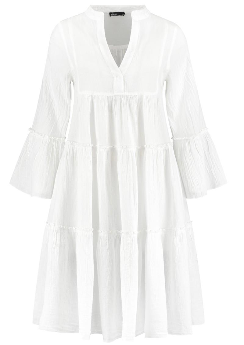 DEVOTION Ella Short Cotton Dress - White main image