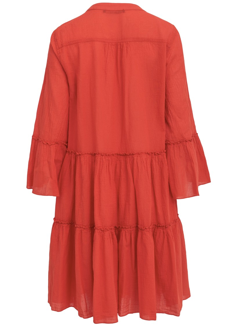 DEVOTION Ella Midi Cotton Dress - Red main image