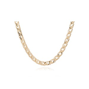 Choker Style Statement Chevron Necklace - Gold