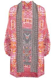 INOA Short Silk Printed Shrug - Shiraz