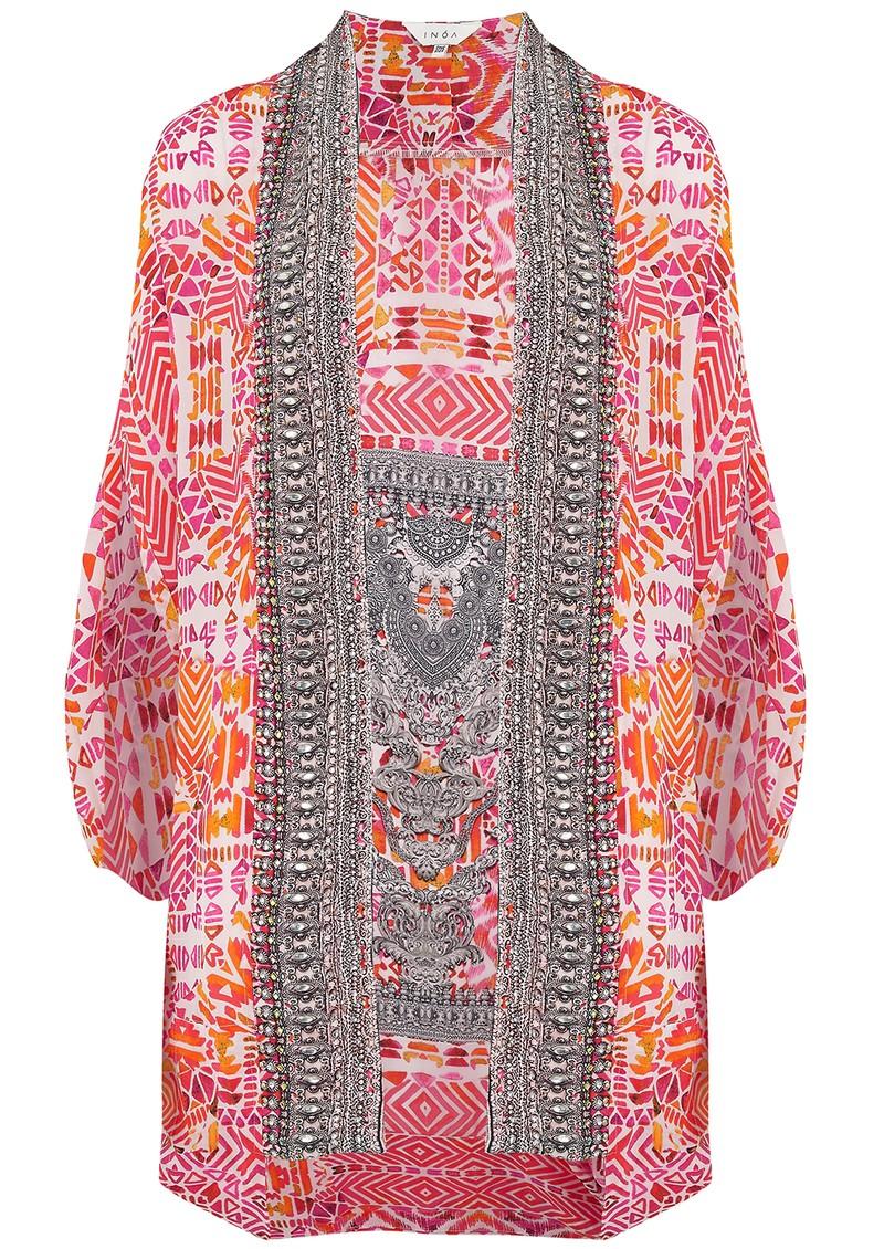INOA Short Silk Printed Shrug - Shiraz main image