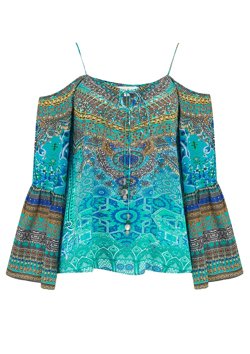 INOA Gypsy Silk Top - Atlantis main image