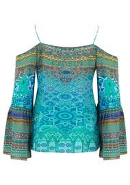 INOA Gypsy Silk Top - Atlantis
