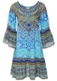 INOA Gypsy Silk Dress - Atlantis