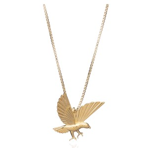 Strength Statement Eagle Necklace - Gold