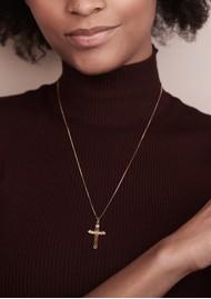 RACHEL JACKSON Floral Cross Necklace - Gold