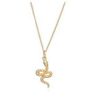 Transform Emerald Snake Necklace - Gold