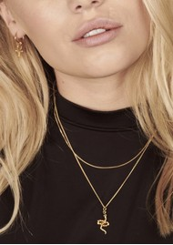 RACHEL JACKSON Transform Emerald Snake Necklace - Gold