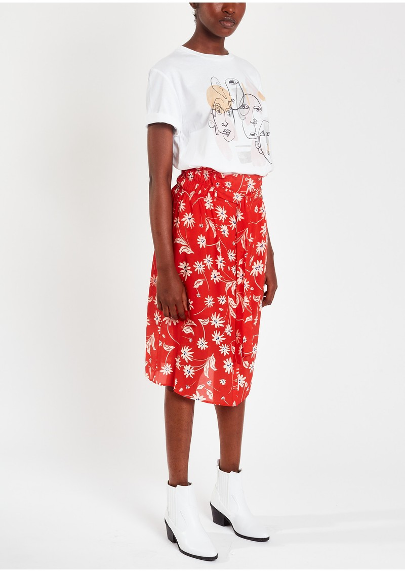 Pyrus Elise Printed Silk Skirt - Simple Flowers main image