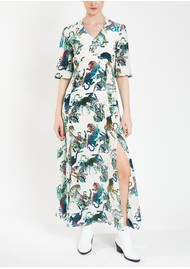 Pyrus Beatrice Silk Maxi Dress - Tigers