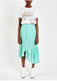 Pyrus Keira Printed Silk Blend Maxi Skirt - Animal Spearmint