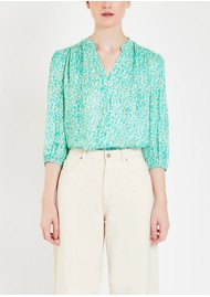 Pyrus Solace Printed Silk Blend Blouse - Animal Spearmint