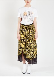 Pyrus Keira Printed Maxi Skirt - Zebra Yellow & Brown