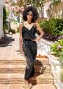 LINDSEY BROWN Casablanca Embellished Jumpsuit - Black