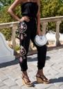 LINDSEY BROWN Valencia Embellished Trousers - Black