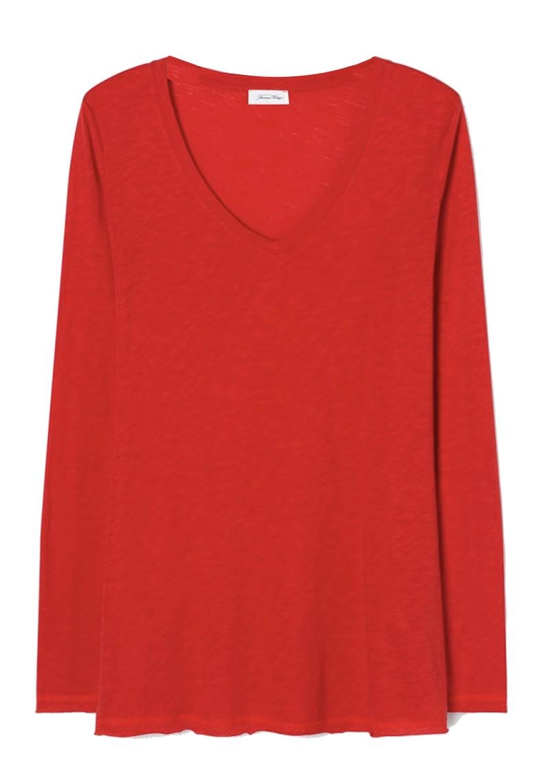 American Vintage Lorkford Long Sleeve T-Shirt - Volcano main image