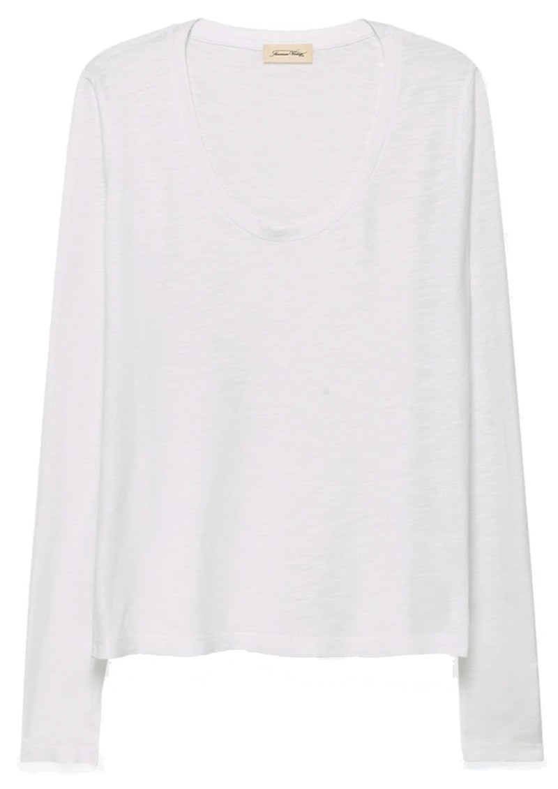 Jacksonville U Neck Long Sleeve Tee - White main image
