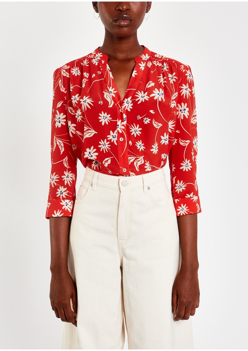 Pyrus Ava Printed Silk Blouse - Simple Flowers main image