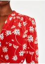 Pyrus Ava Printed Silk Blouse - Simple Flowers