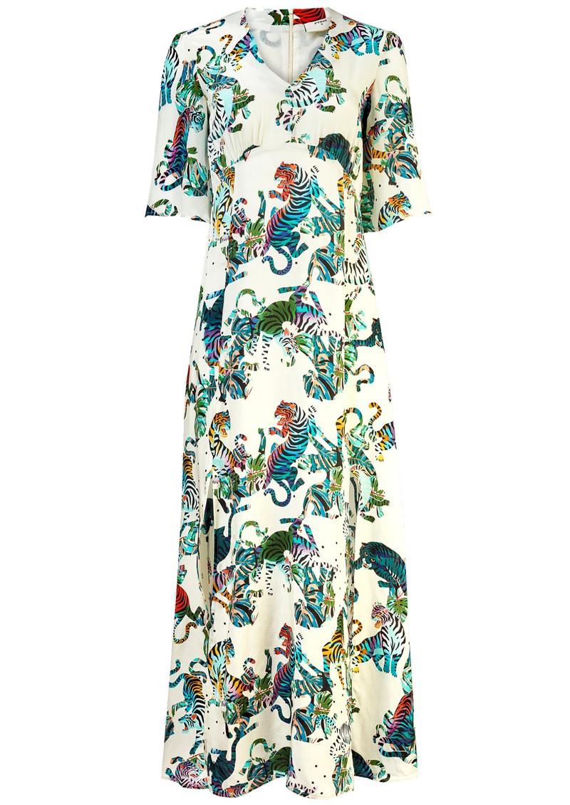 Pyrus Beatrice Silk Maxi Dress - Tigers main image