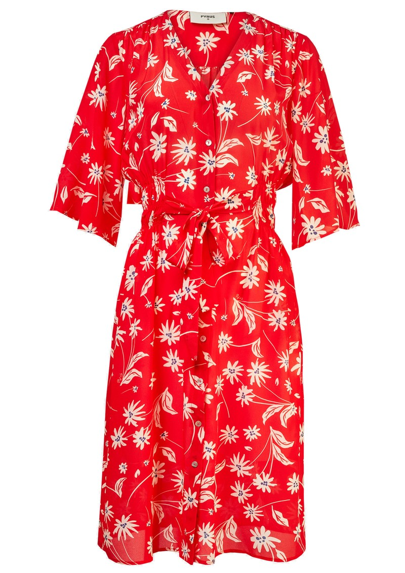 Pyrus Clemence Printed Silk Dress - Simple Flowers main image