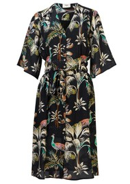 Pyrus Clemence Printed Silk Dress - Peacocks Navy