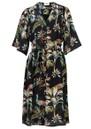 Pyrus Clemence Printed Silk Dress - Peacocks Navy