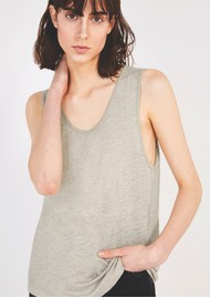 American Vintage Lolosister Linen Tank - White