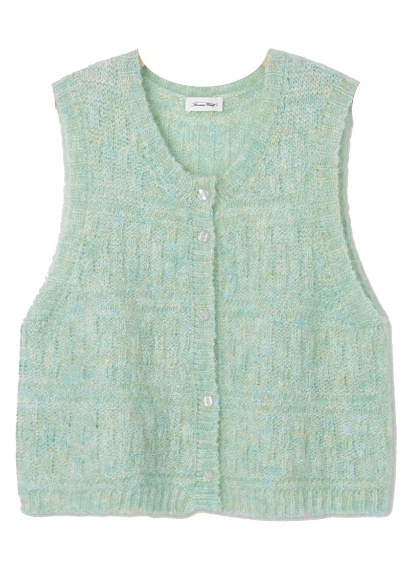 American Vintage Dolsea Knitted Cardigan - Green Water Melange main image