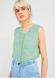 American Vintage Dolsea Knitted Cardigan - Green Water Melange