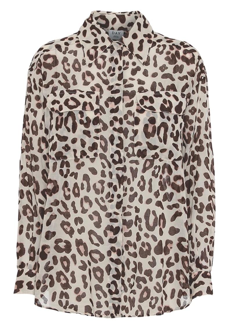 Day Birger et Mikkelsen  Mio Leopard Shirt - Smoke main image